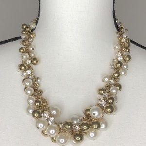 Pearl, Gold and Rhinestone Bobble